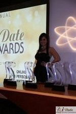 Award Model Andrea O'Campo at the 2010 iDate Awards