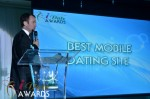 Mark Brooks - Announcing Best Mobile Dating Site Winner for 2012 at the 2011 Miami iDate Awards