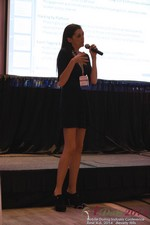 Rosalie Sutherland Of AnastasiaDate Speaking On Mobile Dating Conversions  at the 38th Mobile Dating Industry Conference in Los Angeles