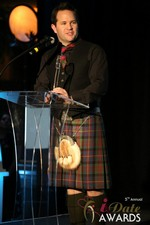Michael O'Sullivan of HubPeople (Winner of Best Dating Software & SAAS) at the 2014 Las Vegas iDate Awards