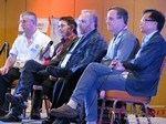 Panel on Online Dating Fraud and Scam Methods - Dave Wiseman, Michael McQuown, Wayne May, Alex Kirkpatrick and Brandon Wade at the January 20-22, 2015 Las Vegas Internet Dating Super Conference