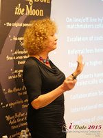 Mary Balfour CEO And Managing Director Of Drawing Down The Moon  at the October 14-16, 2015 London Euro Online and Mobile Dating Industry Conference