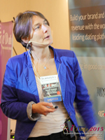 Pauline Tourneur General Manager Of Attractive World Speaking On The French Online And Mobile Dating Market at the 2015 London U.K. & E.U. Mobile and Internet Dating Expo and Convention
