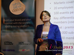 Pauline Tourneur General Manager Of Attractive World Speaking On The French Online And Mobile Dating Market  at the 12th annual Euro iDate conference matchmakers and online dating professionals in London